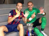 Иньеста: «Буду плакать, когда Виктор Вальдес уйдет из «Барселоны»