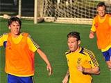 Тренировка сборной Украины на сборах в Турции (ВИДЕО)