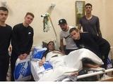 Игроки «Динамо» проведали в госпитале воинов АТО (ФОТО, ВИДЕО)