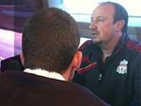 Бенитес дал пресс-конференцию в поезде