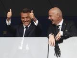 Макрон в раздевалке сборной Франции повторил трюк Погба (ВИДЕО)