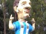 В Аргентине на удачу сожгли огромную куклу Месси (ФОТО)