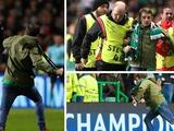 УЕФА может закрыть часть стадиона «Селтика» на домашних матчах ЛЧ из-за выбежавшего на поле фаната