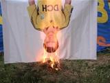 Харьковские фанаты сожгли Олейника