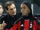 Аллегри: «Роналдиньо останется в «Милане» до июня»