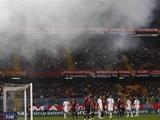Матч «Милан» — «Дженоа» был прерван из-за распыления слезоточивого газа