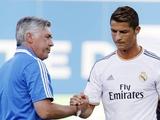 Анчелотти: «Роналду — фантастический профессионал»