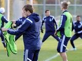 ФОТОрепортаж: открытая тренировка «Динамо» накануне матча со «Стяуа» (23 фото)