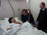 Президент Колумбии навестил Фалькао в больнице (ФОТО)