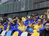 Футболисты сборной Украины запускали на «Олимпийском» волну