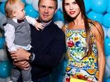 Ребров отметил первый день рождения своего сына