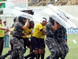 В Бразилии арбитр прибег к помощи полиции