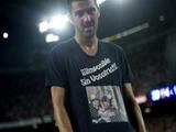 Вилья оштрафован за надпись на футболке