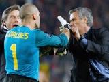 Моуриньо едва не подрался с вратарем «Барселоны» (ВИДЕО)