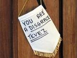 На дом Тевеса повесили вымпел с надписью «Ты — позор!»