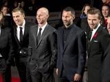 Бекхэм, Гиггз и Скоулз присутствовали на премьере фильма «Выпуск-92»