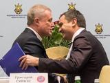 Андрей Павелко поздравил Мишеля Платини и Григория Суркиса с переизбранием на руководящие посты в УЕФА