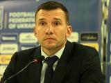 Андрей Шевченко: «Хочу вычеркнуть результат матча с Мальтой. У нас была задача посмотреть всех футболистов»