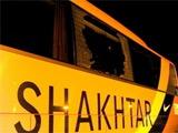 Болельщики «Металлиста» разбили три автобуса «Шахтёра»