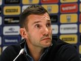 Андрей ШЕВЧЕНКО: «Матч с Сербией не является подготовкой к поединку с Хорватией»