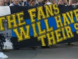 Немецкие болельщики активно протестуют
