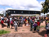 В ЮАР фанаты закидали камнями автобус сборной Замбии