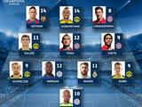 УЕФА опубликовал символическую сборную ответных матчей 1/8 финала Лиги чемпионов (ФОТО)