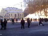 На Майдане появилось футбольное поле (ФОТО)