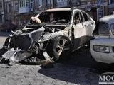 В Днепропетровске сгорел автомобиль Дениса Олейника (ФОТО)