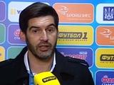 Паулу Фонсека: «Обе команды понимали: кто забьет, тот и выиграет»