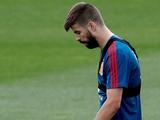 Пике досрочно покинул тренировку сборной Испании