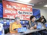 Противники «Газпрома» «поучаствовали» в пресс-конференции «Реала»