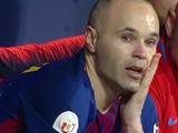 Иньеста завершал свой последний матч за «Барселону» со слезами на глазах (ВИДЕО)