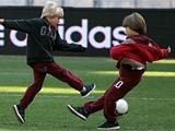 Андрей Шевченко потренировался на «Олимпийском» с сыновьями