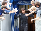 «Динамо» провело тренировку на стадионе имени Лобановского