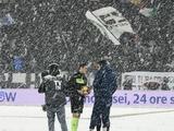 Матч между «Ювентусом» и «Аталантой» перенесен из-за погодных условий (ФОТО)