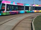 В Киеве появился трамвай с портретом Лобановского (ФОТО)