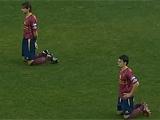 Игроки испанской команды провели минутную забастовку на поле (ВИДЕО)