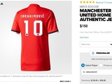 Adidas продает футболки МЮ с 10-м номером и фамилией Ибрагимовича (ФОТО)