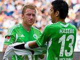 Ворота «Вольфсбурга» в концовке матча защищал полузащитник Хасебе