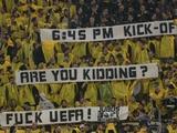 Болельщики «Боруссии» — УЕФА: «Начало матча в18:45? Вы шутите? Кчерту УЕФА!» (ФОТО)