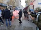 Автобус «Марселя» был атакован фанатами «Лиона»
