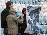 На стадионе во время матча «Черноморец» — «Олимпик» была вывешена фашистская свастика (ФОТО)