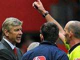 Венгер был удален со скамейки запасных «Арсенала» в матче с «МЮ»
