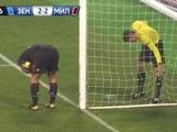 Матч «Зенит» — «Милан» был прерван из-за дырки в сетке
