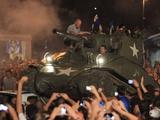 Фанаты «Аталанты» отметили межсезонье поездкой на танке по городу (ФОТО)