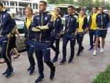 ВИДЕО: Прогулка сборной Украины в Шкодере