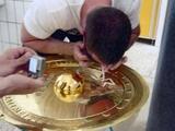 Фанат «Рапида» употреблял кокаин прямиком с трофея чемпиона Австрии (ФОТО)
