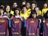 Игроки «Барселоны» встретились с «детьми Фукусимы»