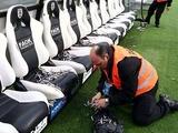 Фанаты ПАОКа забросали скамейку запасных «Олимпиакоса» рыбой